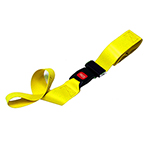 Straps, Vinyl Antibacterial, Metal Push Button Buckle, 2 Piece w/Loop Ends, Yellow, 7 feet