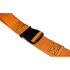 Restraint Straps, Economy Poly, Plastic Side Release, Loop Ends, 7 ft, 2 piece, Orange