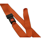 Shoulder Restraint System, BioThane G2, Orange, Torso Straps Only, 7 ft
