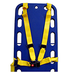 Shoulder Harness Strap, incl 2 Shoulder Straps, Lap Straps, Impervious, Yellow