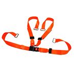 BioThane G1 Shoulder Harness Restraint System, Metal Push Button Buckle, Metal Loop Ends, Orange