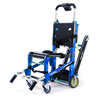 EZ-Glide Stair Chair with PowerTraxx with IV Pole and Locking Handles, Electric Blue