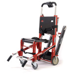 EZ-Glide Stair Chair with Powertraxx with IV pole and Locking Handles, Rescue Red