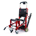 EZ-Glide Stair Chair with PowerTraxx with Locking Handles, Rescue Red