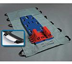 MegaMover Plus Portable Transfer Unit, w/PowerGrips, Nonwoven Poly, Gray/Black, 40in x 80in