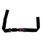 Torso Strap Only, Nylon, for the Shoulder Harness Restraint System, Black