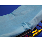 "Taylor's SureFit, 30"" x 84"", Impervious, Fitted Stretcher Sheet, Blue, Non-Latex Elastic Band"