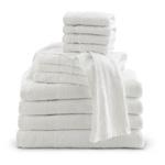 Bath Towel, White, Cotton, 20inch x 40inch