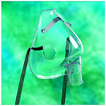 O2 Mask, Aerosol Mask, without Tubing, Clear Soft Vinyl