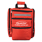 QuikClot Bleeding Control Bag (BCB) with 6 CAT Tourniqets, Dressings/Gauze, Shears