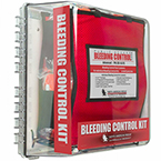 Public Access Bleeding Control Station, Advanced, Vacuum Sealed, Mountable on Wall