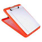 SlimMate Storage Clipboard, Letter/A4 Size, Plastic, Bright Orange