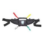 Deluxe Triage Belt, Large Front Pocket, 2 Outside Pockets, Lanyard Keeper, Black