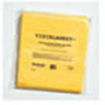 Visiblanket ,  yellow, highly absorbent material w/poly fluid barrier,  50inch x 84inch