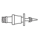 LifeShield Vial Adapter, w/CLAVE, For Use w/Luer Tips, 2inch
