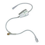 IV Ext Set, Inj Site, Rate Flow Regulator w/Female Luer Connector, SPIN-LOCK Connector, 18inch
