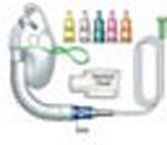 Venturi Mask Kit, incl Oxygen Mask w/7 Foot Tubing, Hood, Diluters, Adult