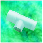 Nebulizer tee connector, 22mm ID/OD x 18mm ID connections