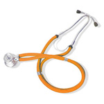 Curaplex Stethoscope, Sprague Rappaport Type, Orange