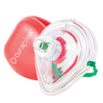 Curaplex CPR Mask with O2 Inlet