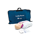 Little Anne CPR Training Manikin incl Mat, Faces, Airways, Wipes, Guide, Jacket
