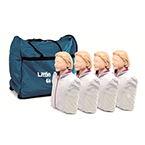 *Limited Quantity* Little Anne CPR Training Manikin, Light Skin, 4 Pack incl Mats, Faces, Airways