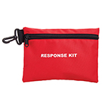 Response Kit Pouch, Red, 8.75 in x 6 in