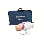 Little Anne AED Training Manikin incl Mat, Faces, Airways, Wipes, Guide, Jacket