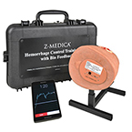 Hemorrhage Control Training Kit w/Biofeedback, incl Leg, Stand, Tablet, Case, Moulage