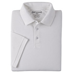 5.11 Men Professional Polo Shirt, Pique Knit, Short Sleeve, White, MED