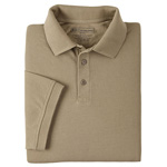 5.11 Men Professional Polo Shirt, Pique Knit, Short Sleeve, Silver Tan, XS