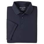 5.11 Men Professional Polo Shirt, Pique Knit, Short Sleeve, Dark Navy, SM