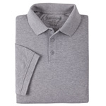 5.11 Men Professional Polo Shirt, Pique Knit, Short Sleeve, Tall, Heather Grey, LG