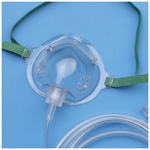 AirLife Oxygen Mask, Short Style, 7 foot tubing, Pediatric