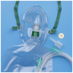 AirLife 3-in-1 Oxygen Mask, Under the Chin, 2 Valves, 7 Foot Tubing, Adult