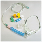 Tracheostomy Mask, 6inch Flextube, 6 Diluter Jets, Humidification Hood, 7 foot Tubing, Adult
