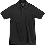 5.11 Utility Polo Shirt, Short Sleeve, Black, Unisex XS