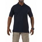 Utility Polo Shirt, Short Sleeve, Dark Navy, Unisex XS