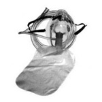 Non-Rebreather Mask, Safety Vent, 7 Foot Tubing, Elastic Strap, Pediatric