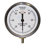 Vacuum / pressure gauge, Reusable, for CPAP Systems or Neonatal applications