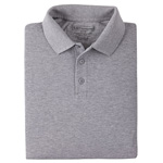 5.11 Men Professional Polo Shirt, Pique Knit, Long Sleeve, Heather Grey, XS