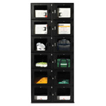 UCapIt CAP 12 Door Locker, Stand Alone w/Mag Stripe Reader, Pin Pad, Black
