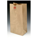 Kraft Paper Bag, 6inch x 3 5/8inch x 11 1/16inch, Brown, 35 LB Limit