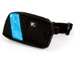 EMS-2 WaistPak Fanny Pack, Black w/Blue Reflective Stripe