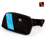 EMS-2 WaistPak Fanny Pack, Black w/Reddish Orange Reflective Tape
