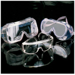 Monogoggle Safety Glasses VPC, Indirect Venting, Clear Lens, Wide Nose Flange
