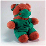 Plush Bear, 10inch Plush Doctor Bear In Scrubs