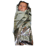 Foil Baby Bunting, Conserves Body Heat In Newborns