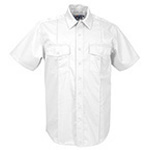 5.11 Men A-Class Station Shirt, Short Sleeve, White, 3XL