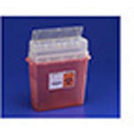 *Limited Quantity* Sharps-a-Gator Sharps Container, w/Tortuous Path Lid, Clear w/Clear Lid, 5 Quart